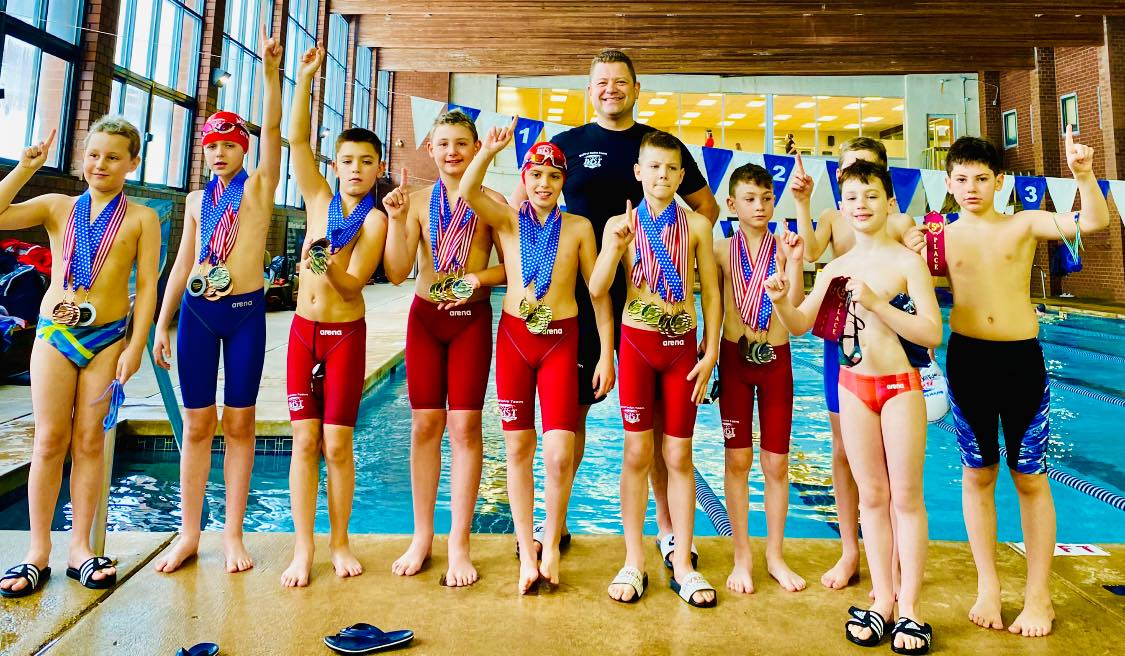 Rewarding our BeFirst Swim Team 10 and under swimmers